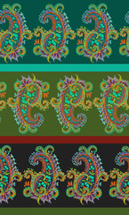 seamless striped paisley pattern