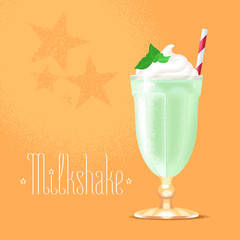 Milkshake vector illustration, design element