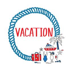 Vacation doodles frame