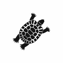 Turtle icon in simple style isolated vector illustration