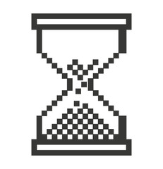 Computer mouse hourglass  pointer isolated icon design