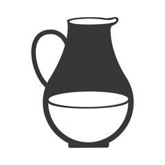 vase of milk isolated icon design