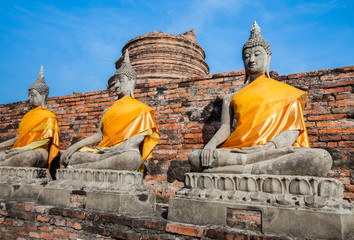 Buddha statue in ancient city
