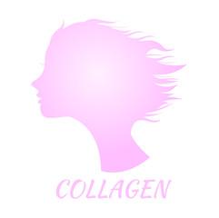 collagen icon logo and vector , circle collagen
