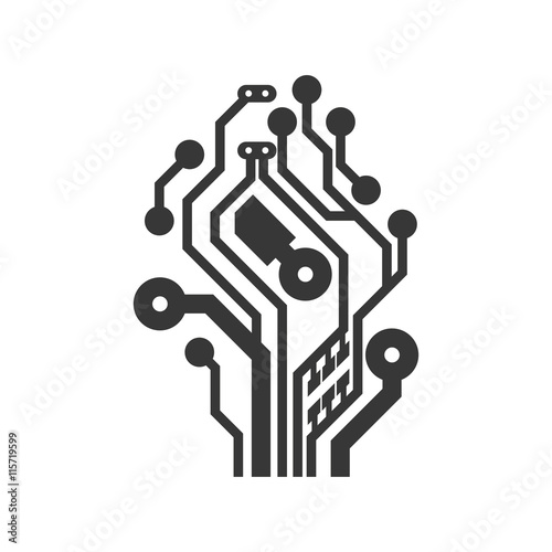 u0026quot technology concept represented by circuit board icon