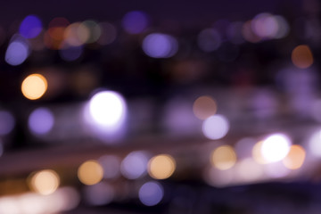 night of bokeh light for background or concept