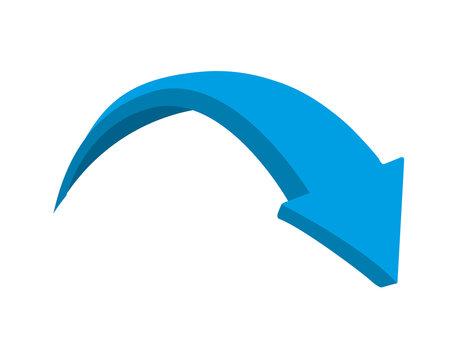 arrow blue isolated icon design