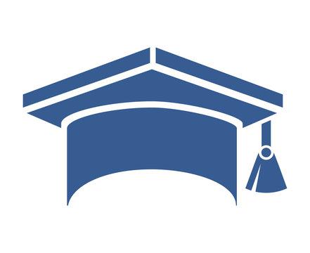graduation hat isolated icon design