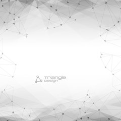 Abstract Polygonal Geometric Background with copyspace. Vector Lowpoly Illustration