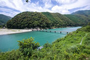 岩間沈下橋(高知県四万十川)