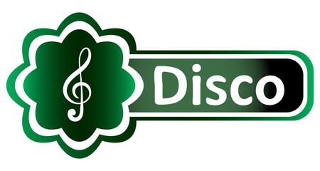 Double icon green treble clef disco
