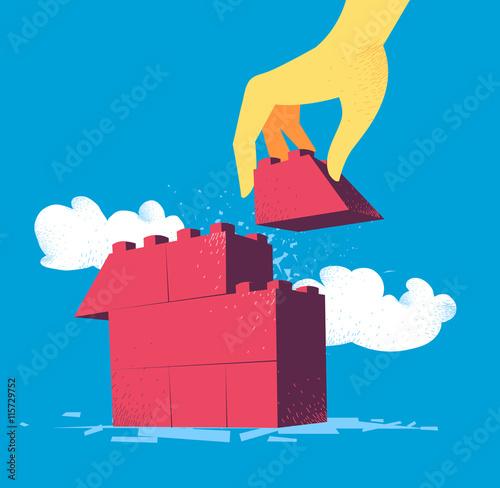 Costruzione di una casa stockfotos und lizenzfreie vektoren auf bild 115729752 - Costruzione di una casa ...