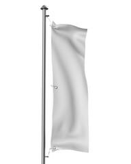 blank vertical flag mock-up