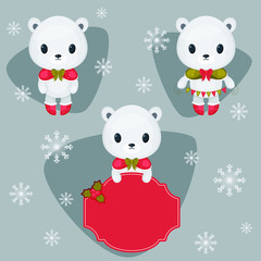 Three different polar bears