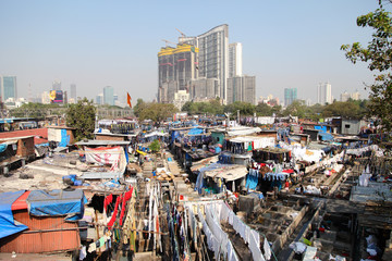 Dhobi Ghat is known as the world's largest outdoor laundry in Mumbai, India
