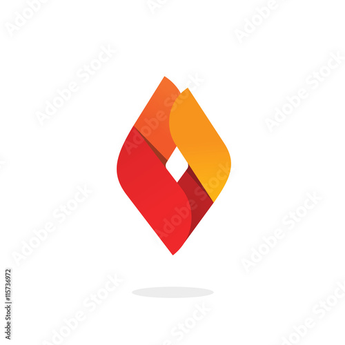 Fire Flame Logo Vector Abstract Ignite Energy Icon Blaze Brand