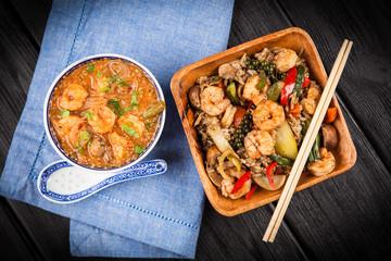 Shrimp rice dish