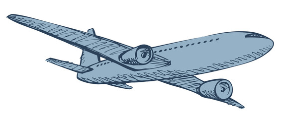Aircraft. Vector drawing