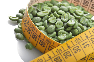 Wall Mural - Green coffee beans good for losing weight