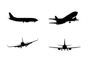 Airplane black collection boeing
