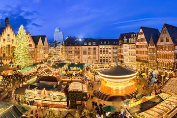 Weihnachtsmarkt in Frankfurt, Deutschland