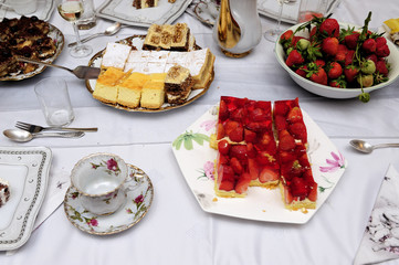 admission, table, cakes, food, sweets, delicacies, lacquer, sugar, events, home, party, celebrations, occasion, meal,