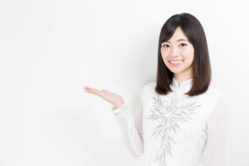 portrait of young asian woman wearing ao dai