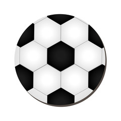 Soccer ball sport isolated flat icon, vector ilustration.