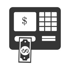 Money and investment isolated flat icon, vector illustration graphic.