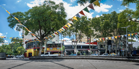 Panoramic View of Plaza Serrano in Palermo Soho neighborhood - Buenos Aires, Argentina