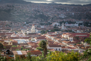 Fotomurales - High view of city of Sucre, Bolivia