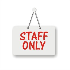 Staff Only Vector Design