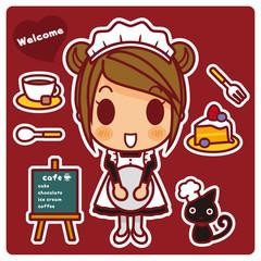 オンナノコ+カフェ店員 ベリー系
