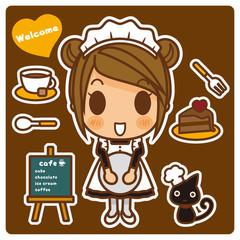 オンナノコ+カフェ店員 チョコ系