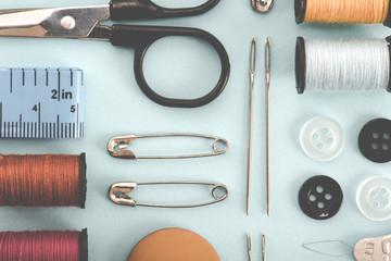 裁縫道具 フラット レイアウト