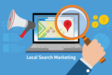 local search marketing Wall mural
