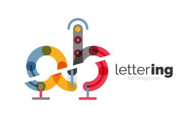Linear business logo letter