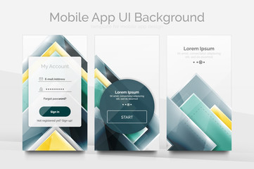 Mobile background ui
