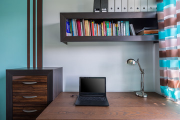 Functional and stylish home workspace
