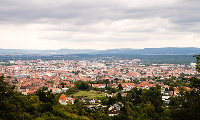 Aerial view over Bamberg