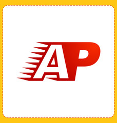 AP Two letter composition for initial, logo or signature