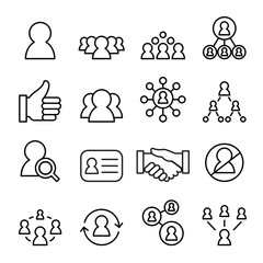 Social network icon set , line icon vector illustration