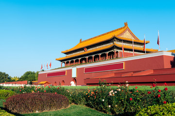 Tienanmen, Gate of Heavenly Peace, Beijing, China. The main entrance of Forbidden City.