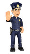 3D Policeman ordering to stop with hand