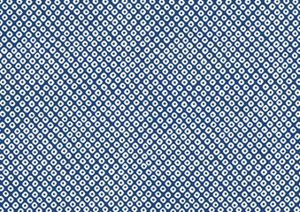 鹿の子絞り 模様 伝統文様 和柄 背景 青