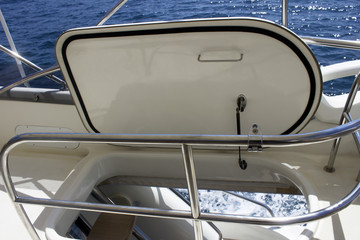 yacht interior stairs