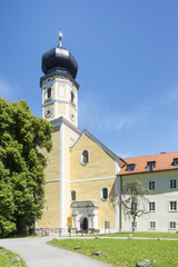 church at Bernried at Starnberg lake Bavaria