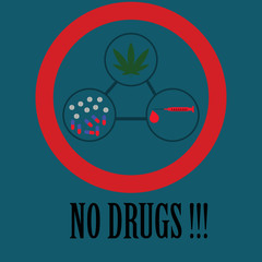 No drugs Icon and vector.