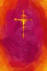 yellow painted cross