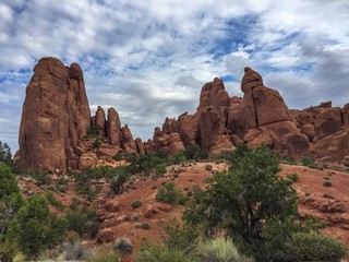 Beautiful desert landscape in Arches National Park